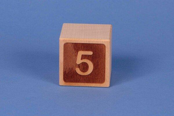 Buchstabenwürfel 5 negativ