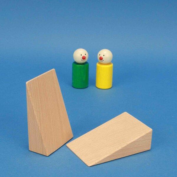 cubes en bois triangulaires 9 x 6 x 3 cm
