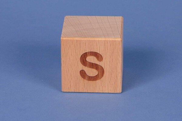 Buchstabenwürfel S positiv
