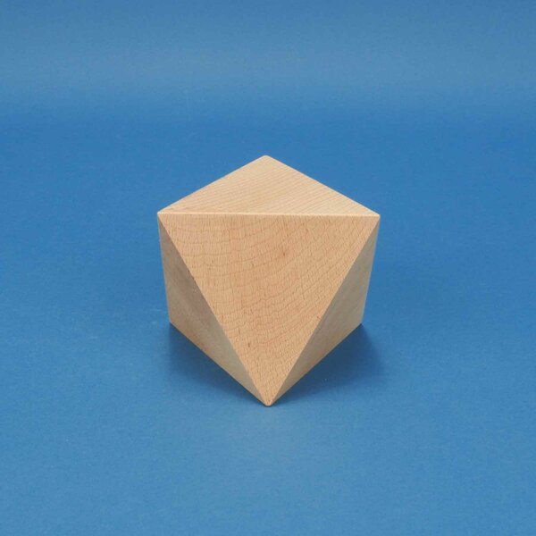 Platonic solid Octahedron made of beech 10 cm