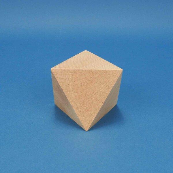 Platonischer Körper Oktaeder 10 cm aus Buche