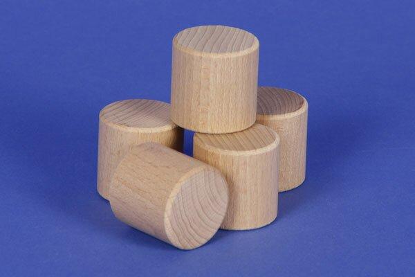 cylindres en hêtre Ø 2,5 x 2,5 cm