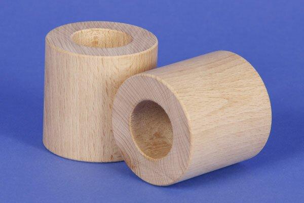 houten blokken rond Ø 6 x 6 cm - 3 cm drilled