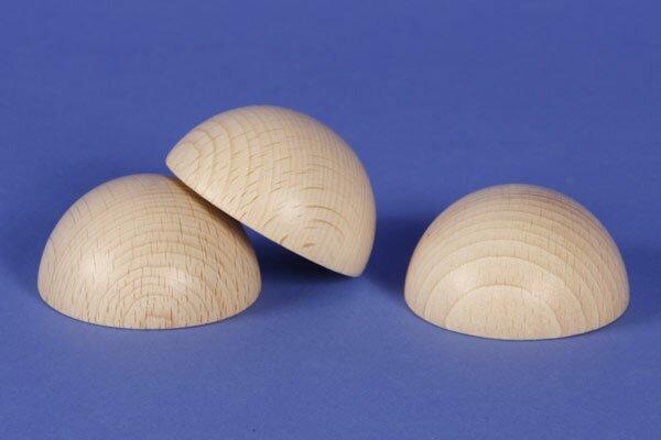 Half wooden balls beech Ø 2 inches