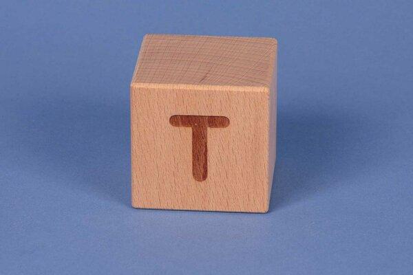 Letter cubes T positive