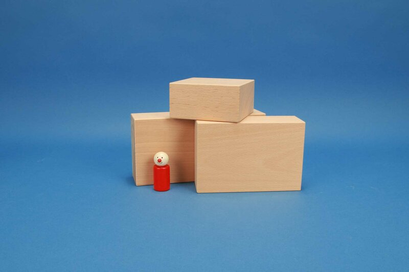 cubes en bois grandes 12 x 6 cm