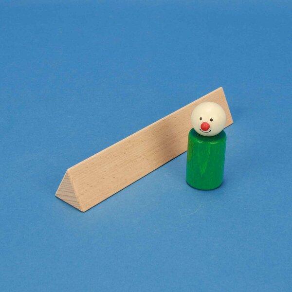 wooden triangular pillar 3 x 3 x 18 cm isosceles