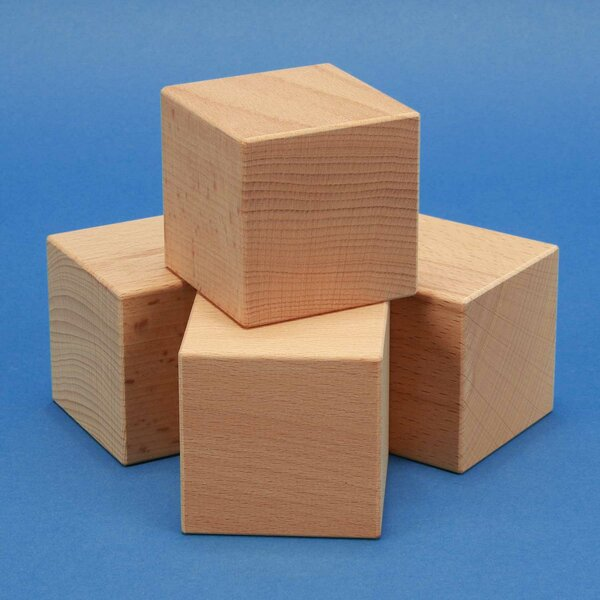 wooden cubes 1,5 inches