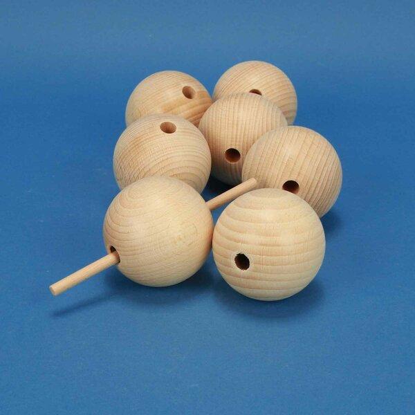 wooden balls beech Ø 60mm drilled 10mm