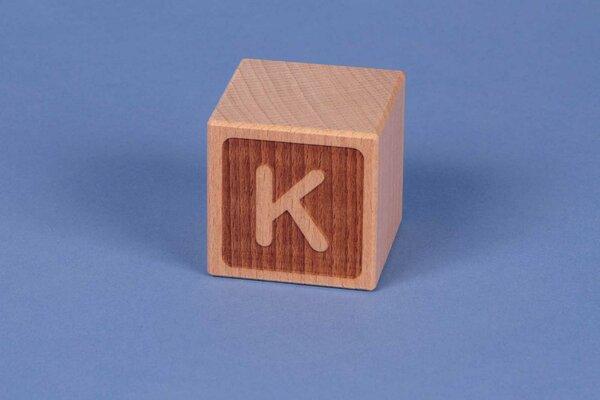Buchstabenwürfel K negativ