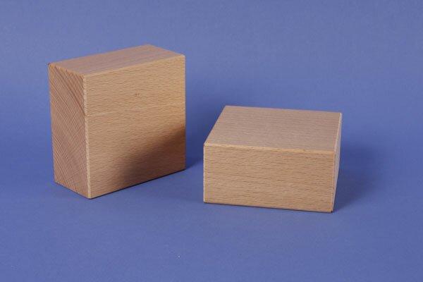 extra grote houten blokken 12 x 12 x 6 cm