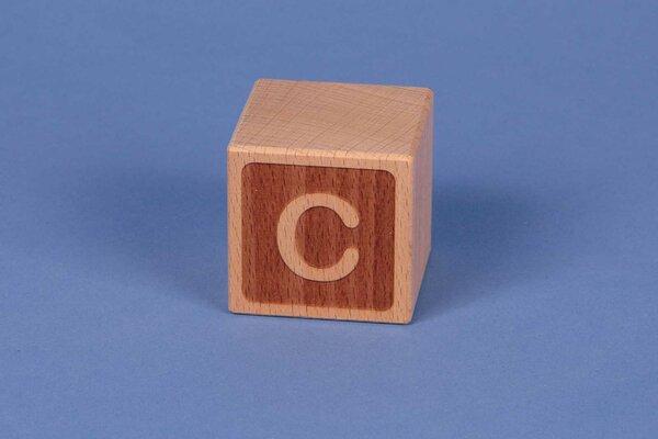 Letter cubes C negative