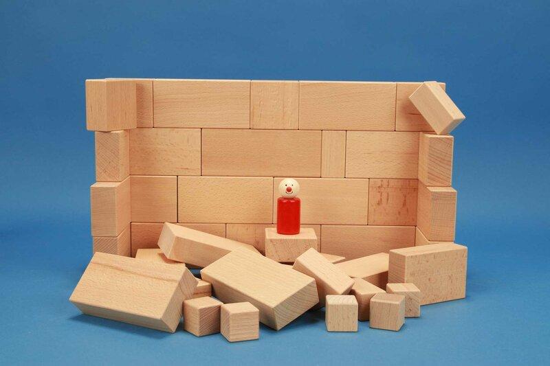 Sets mit großen Holzbausteinen