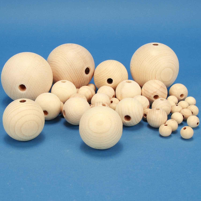 houten ballen met boorgat