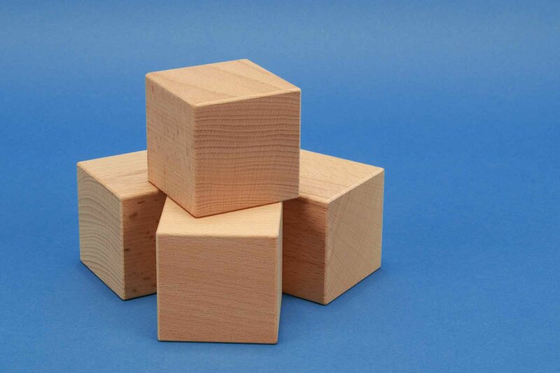 wooden cubes from Beechwood