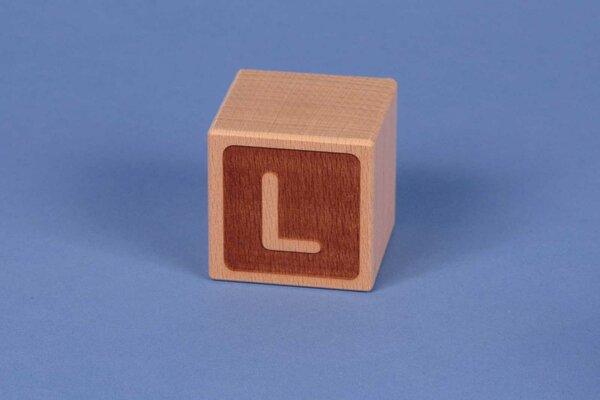 Buchstabenwürfel L negativ