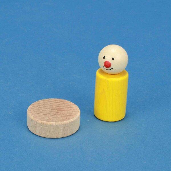 Zylinder aus Buche Ø 4,5 x 1,5 cm