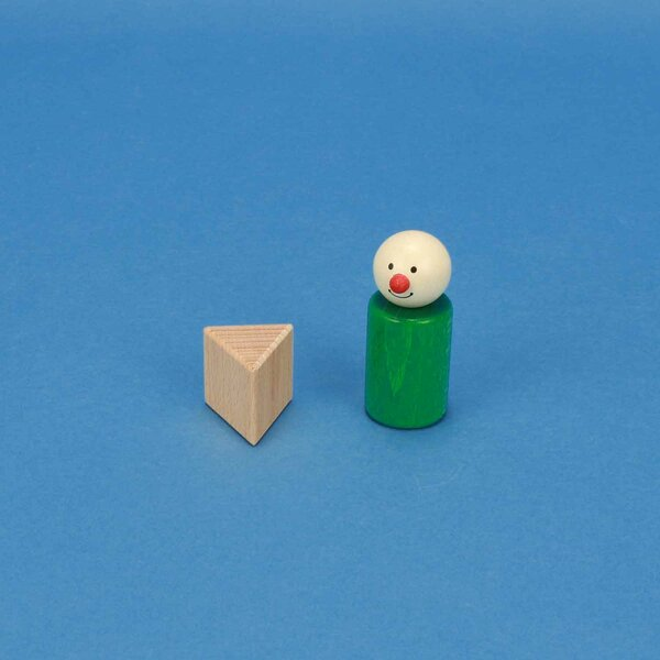 houten columns driehoekig 3 x 3 x 3 cm