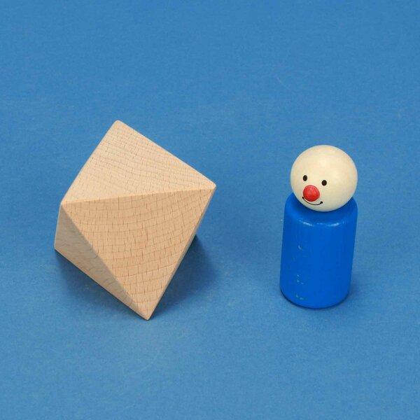 Platonic solid Octahedron van beukenhout 6 cm