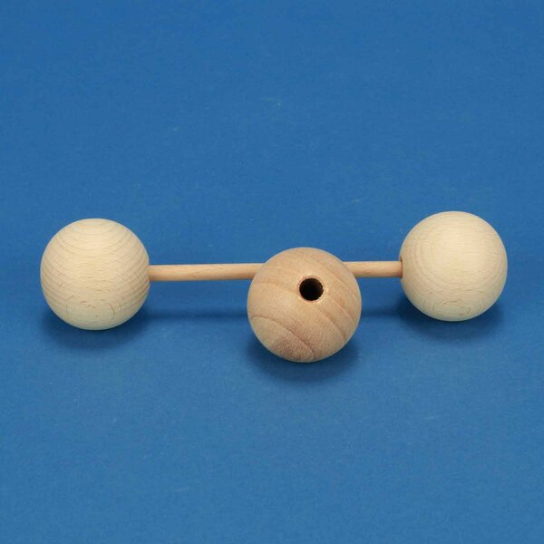 Boules en bois Ø 45mm demi percés 8mm