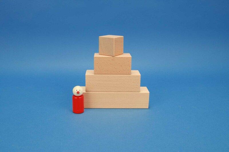 cubes en bois cuboïde 4,5 x 4,5 cm