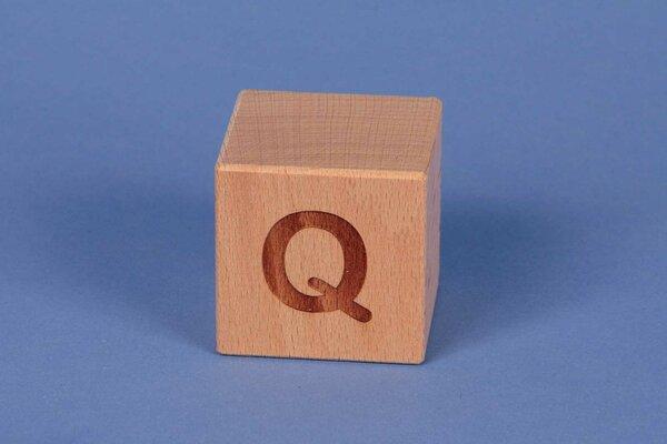 Houten naam blokken Q positief