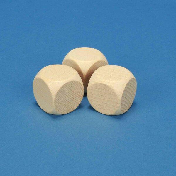 Dice en bois naturel 4 cm