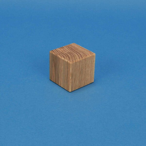 Holzwürfel 3 cm aus Eiche