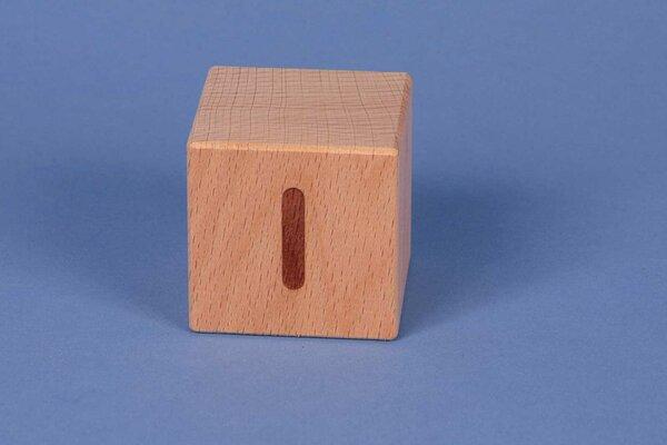 Cubes en lettres I positive