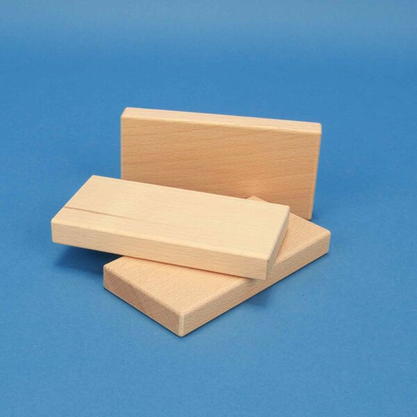 blocs de construction de bois 12 x 6 x 1,5 cm