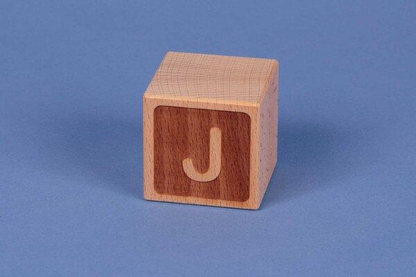 Letter cubes J negative