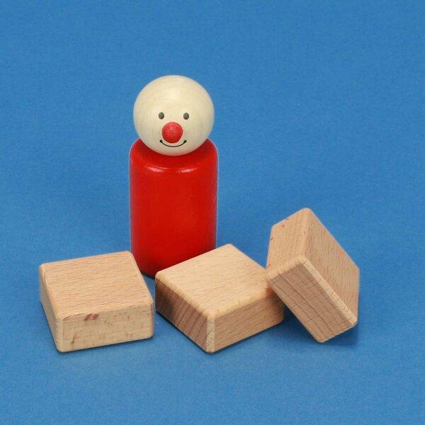 cubes en bois 3 x 3 x 1,5 cm
