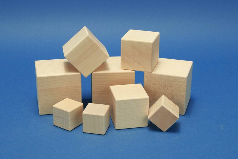 wooden cubes from maple