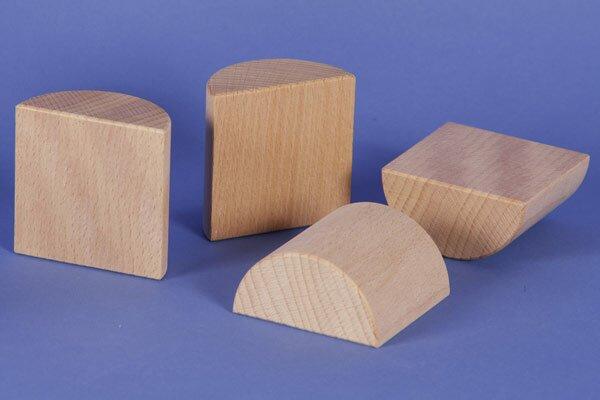 houten columns half Ø 6 x 6 cm