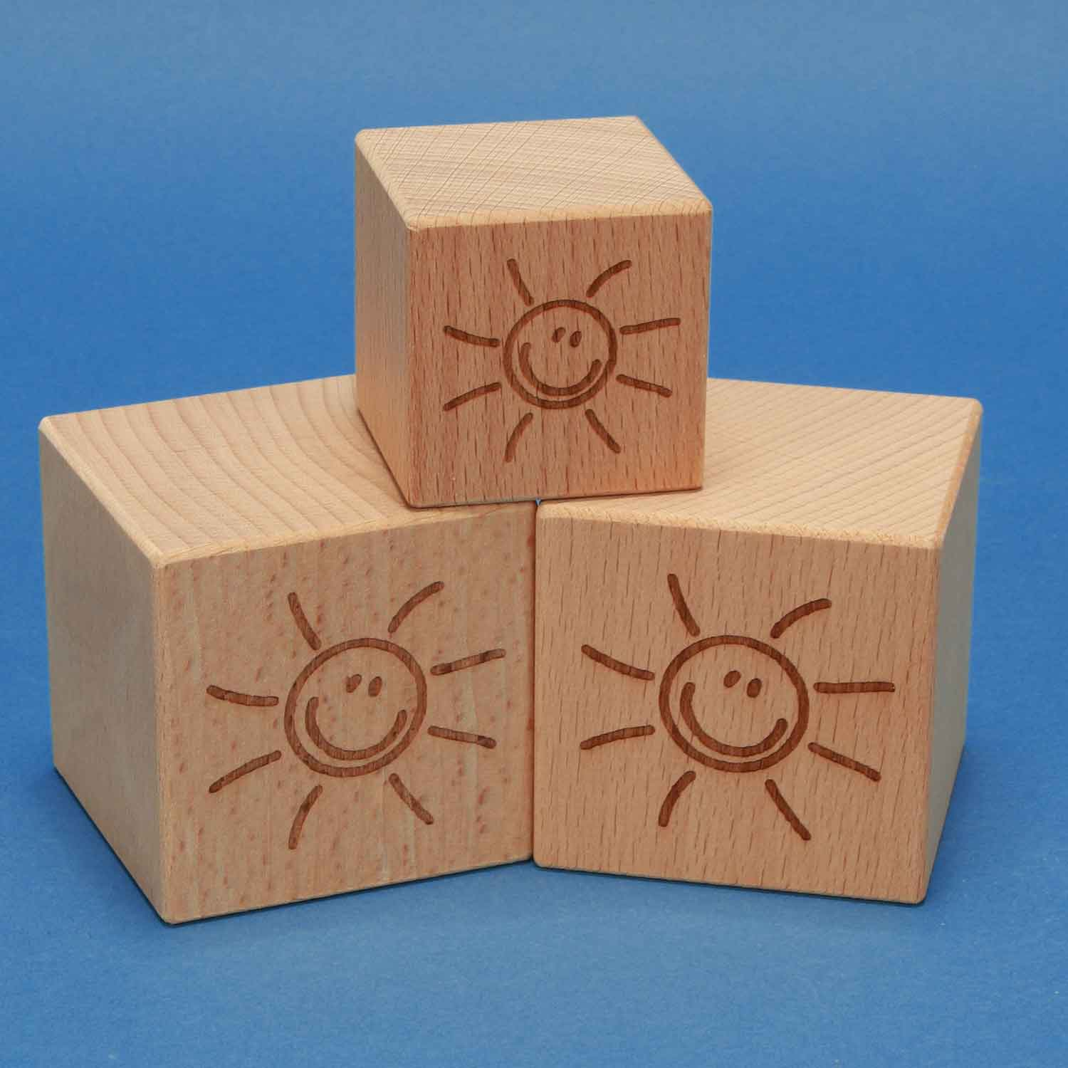wooden cubes with laserengraving