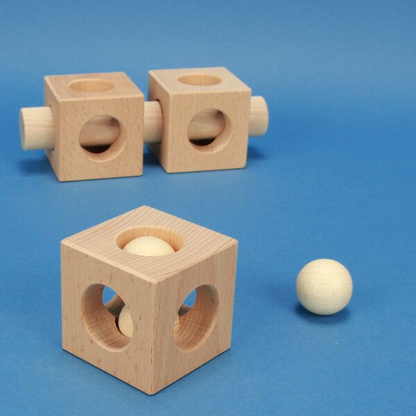 wooden cubes - Production to order