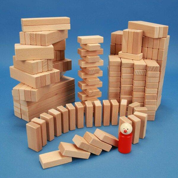 Jeu de 200 cubes de bois de la serie 3 x 1,5 cm