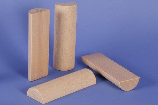 wooden half pillar Ø 6 x 18 cm