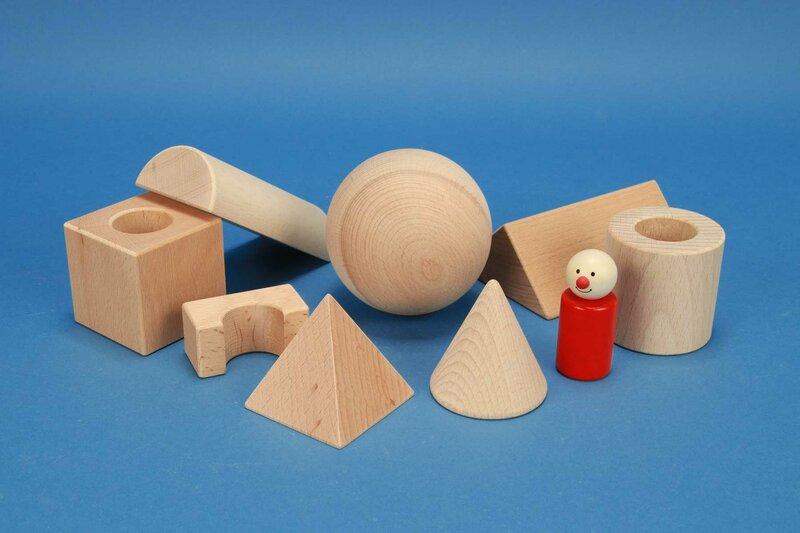 Holzbausteine für die Schule