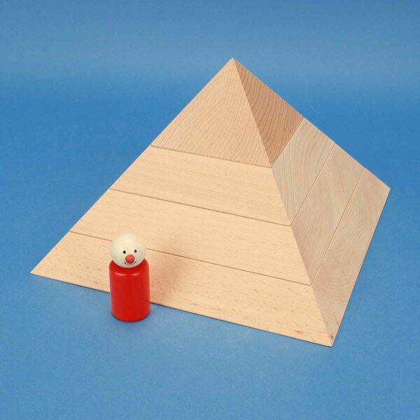 quadratische flache Pyramide 24 x 24 x 15 cm