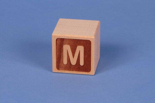 Buchstabenwürfel M negativ