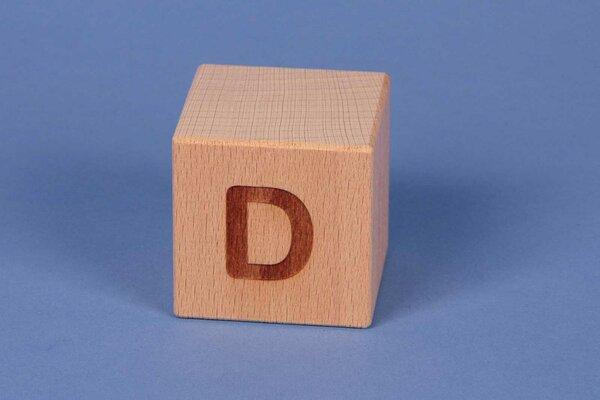 Letter cubes D positive