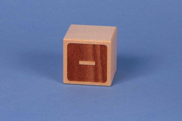 Cubes en lettres - négatif