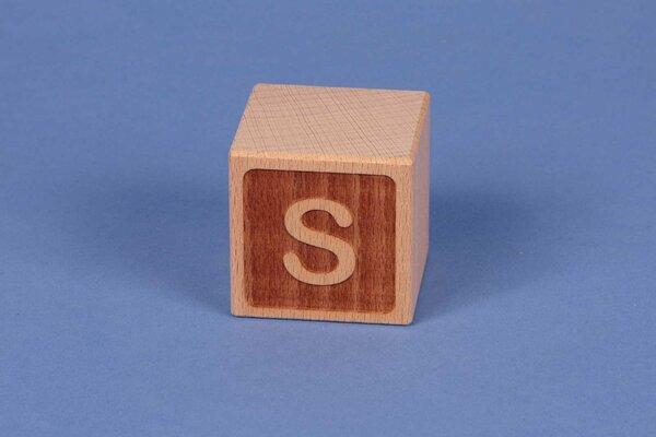 Letter cubes S negative
