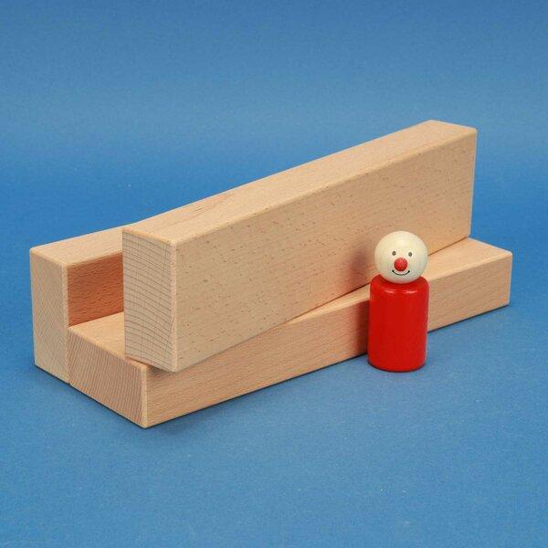 fröbel blocs de construction en bois 24 x 6 x 3cm
