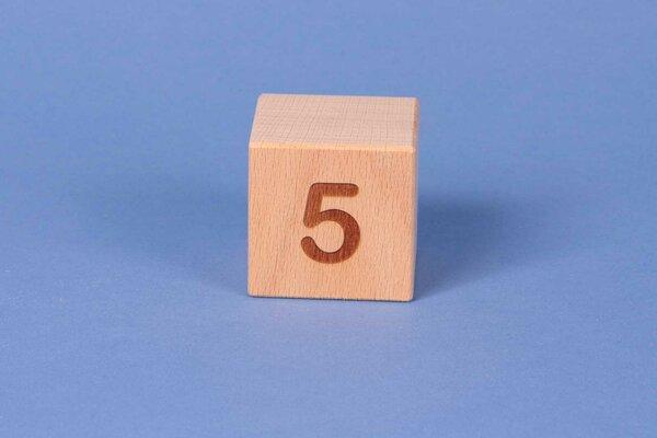 Buchstabenwürfel 5 positiv