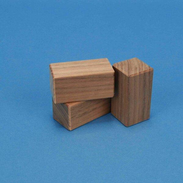 cubes en noyer 6 x 3 x 3 cm
