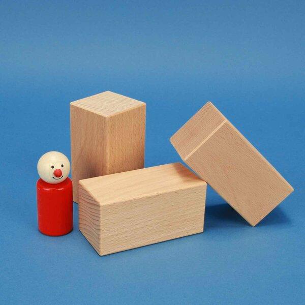 Holzbauklötze 9 x 4,5 x 4,5 cm aus Buche