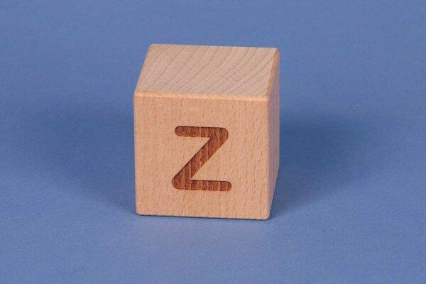 Houten naam blokken Z positief
