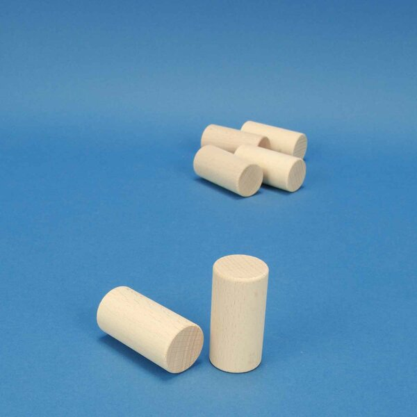 cylinder en hêtre Ø 3 x 6 cm